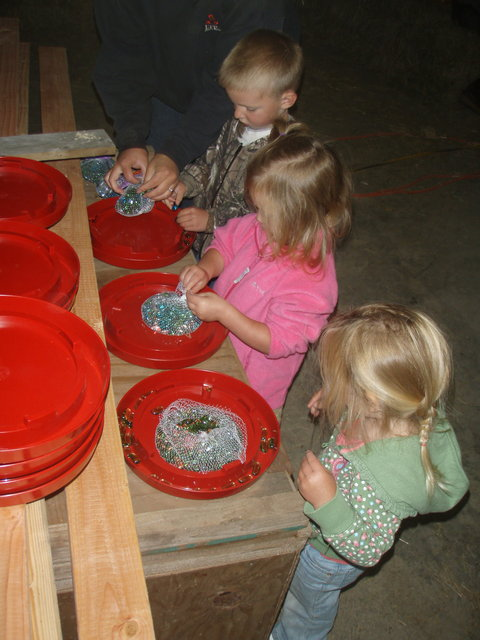 Putting marbles in their water to entice them to drink.